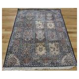 Vintage and Finely Hand Woven Silk AreCarpet.