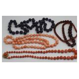 JEWELRY. Assorted Natural Gem Beaded Necklaces.