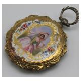 JEWELRY. French 18kt Gold and Enamel Pocket Watch.