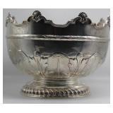 SILVER. Antique English Pedestal Punch Bowl.