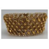 JEWELRY. Italian 18kt Gold Wide Mesh Bracelet.