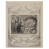 """BLAKE, William. Engraving. From the """"Book of Job:"""