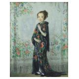MORA, Francis L. Oil on Canvas. Young Girl in