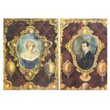 MAKK, Americo. Pair of Oil on Canvas Portraits of