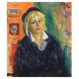 PHILIPP, Robert. Oil on Canvas. Young Woman in a