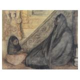 ZUNIGA, Francisco. Charcoal and Chalk. Mother and