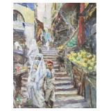 PAL, Fried. Oil on Canvas. Orientalist Market