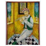 """KAFANOV, Vasily. Oil on Canvas. """"In the Yellow"""