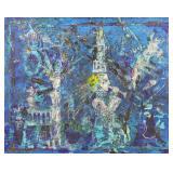 "KAFANOV, Vasily. Oil on Canvas. ""Blue Night Story"""