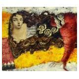 """ROC-ROUSSEY, Jean Pierre. Oil on Canvas """"Le Repos"""""""