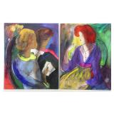 LE KINFF, Linda. Two Oils on Panel.