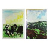 MORLEY, Malcolm. Two (2) Color Lithographs.
