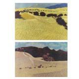 "DIGIORGIO, Joseph. Two Oil Pastels ""Desert Series"""