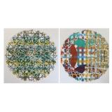 SHIELDS, Alan. Two Mixed Media Works on Paper.