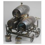 SILVER-PLATED. Victorian Triple Barrel Whiskey