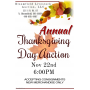 Annual Thanksgiving Day Auction