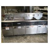 4 Bay Deep Fryer with Dump Station (#162) $1500