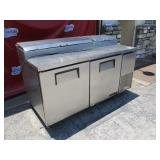 "True 2 DR SS 67"" Ref Prep Table (#185) $900"