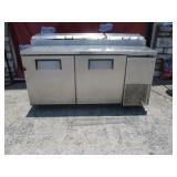 True 2Dr SS Refrigerated Prep Table (#188) $700