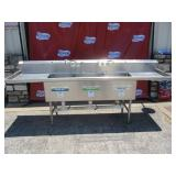 Three Bay Stainless Steel Sink (#206) $750