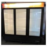 (296) True Glass 3 Door Freezer $2100
