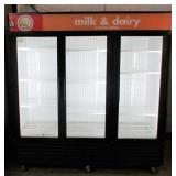 (298) True Glass 3 Door Freezer $2200
