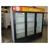 (300) True Glass 3 Door Refrigerator $2200