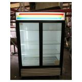 (315) True 2 Door Glass Refrigerator $1800