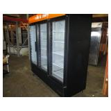 (341) True 3 Door Glass Refrigerator $2400