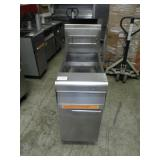 (348) Fry Master Single Bay Floor Fryer $350