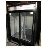 (272) True 2 Door Glass Refrigerator $1000