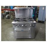 CookRite SS 6 Burner Range w/ Oven (401) $800