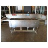 "Stainless Steel 4 Bay Sink, 84"" (407) $800"