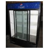 True 2 Door Glass Refrigerator (273) $1400