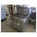 CookRite SS 6 Burner Range w/ Oven (408) $800