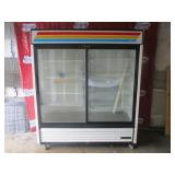 "True 70"" Sliding 2 Door Ref. Merchandiser (436) $2"