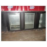 True Glass 3 Door Back Bar Refrigerator  ($1200)